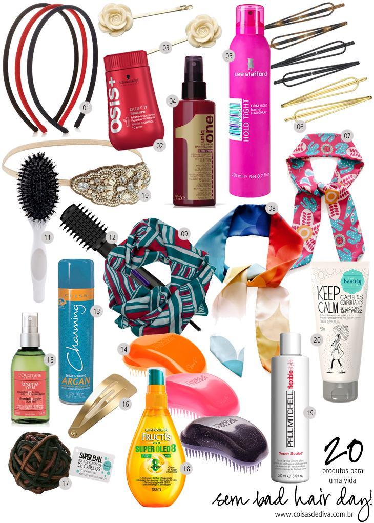 20 produtos para um bad hair day!