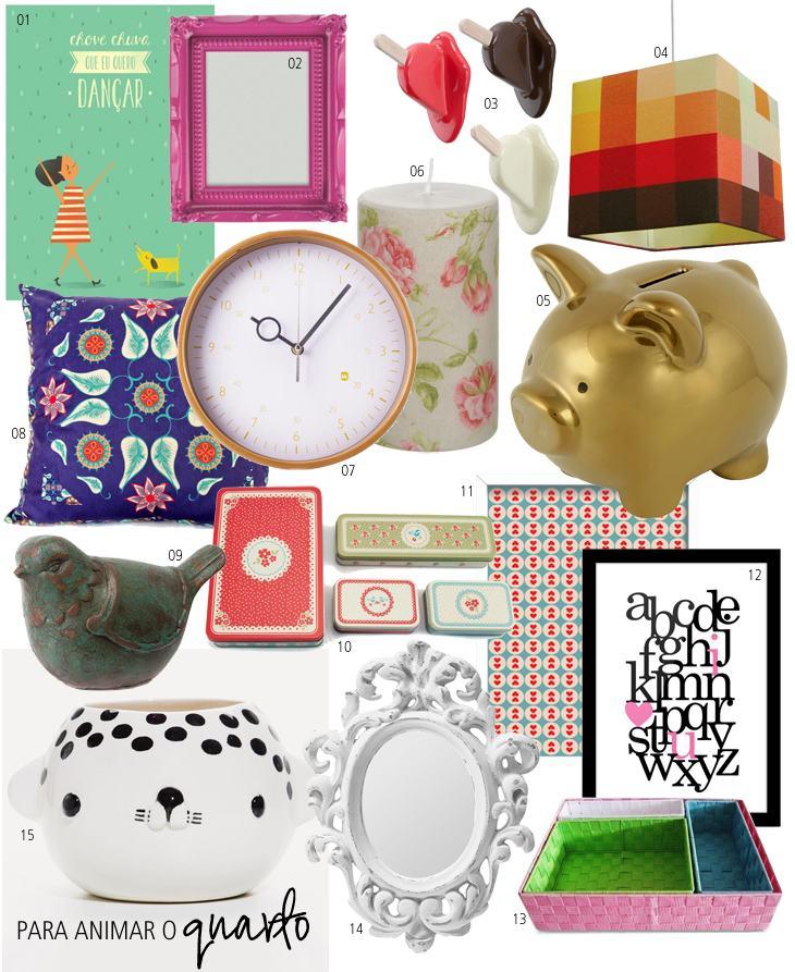 15 objetos para decorar o seu quarto for Objetos baratos para decorar