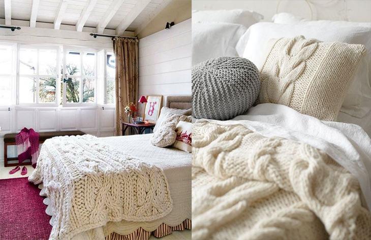 Tricô e crochê na decoração para uma casa mais aconchegante!