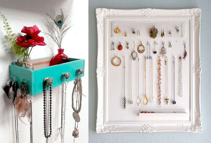 Ideias criativas de como organizar as bijus
