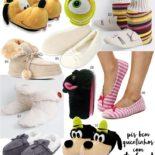 Pantufas para esquentar os pés em casa!