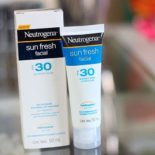 Testei: protetor solar Sun Fresh Facial Neutrogena FPS30