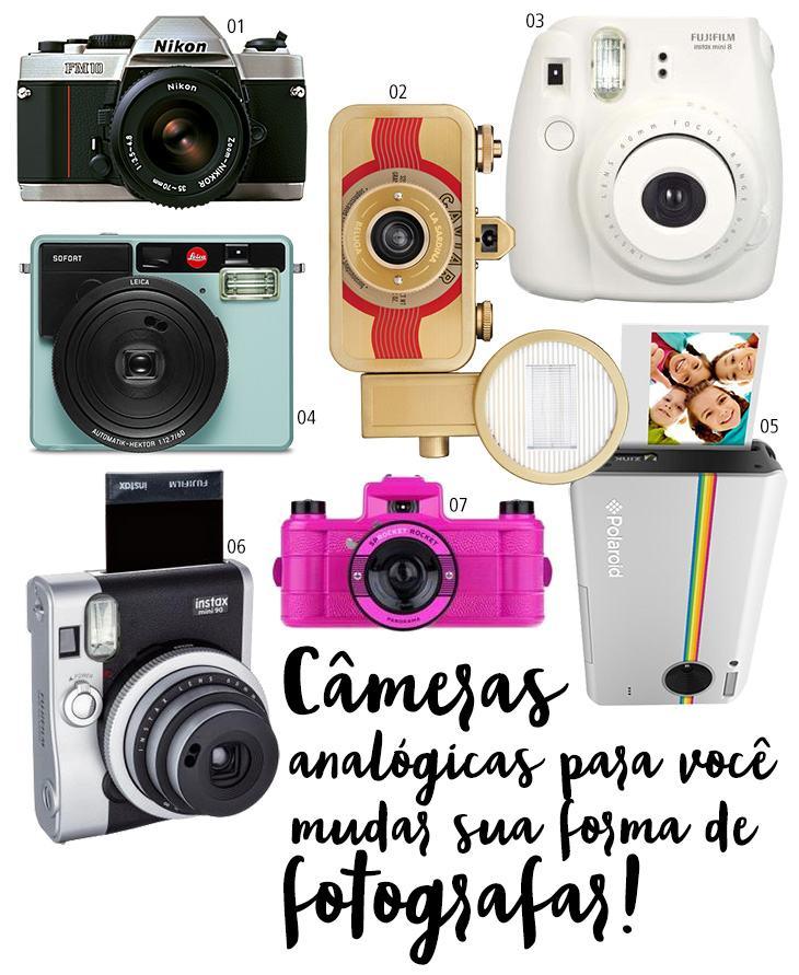 máquinas fotográficas com filme