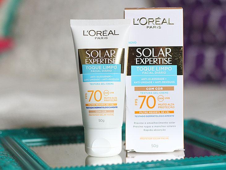Protetor solar com cor  L Oreal Solar Expertise FPS70 - us10 a86ac9fca9