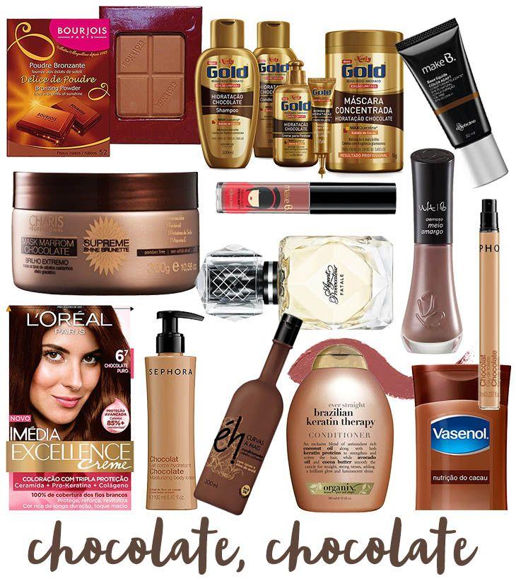 cosméticos com chocolate