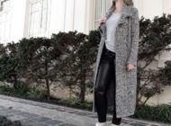 """Roupa da vida real: calça de """"couro"""" e casacão"""