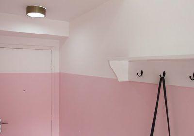 Tudo sobre half painted wall (ou: tenho uma parede rosa!)